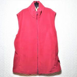 WOOLRICH Ladies Raspberry Fleece Zip Vest-SZ MED